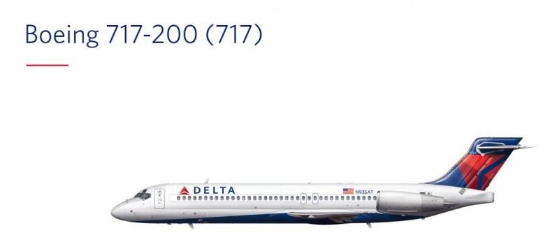 达美将在5年内退役全部波音717、767-300和CRJ-200