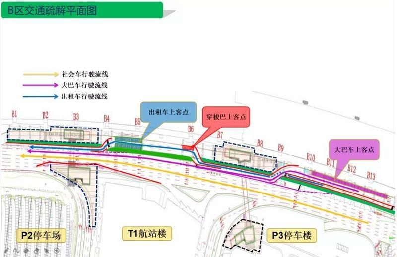 """白云机场1号航站楼在建四条""""地下人行隧道"""""""