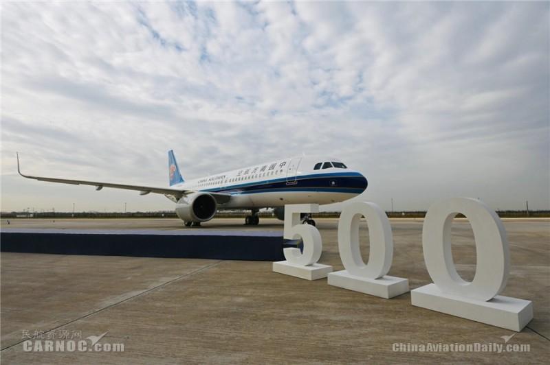南航客货运飞机总数856架,机队总规模位居世界第三